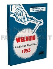 1953 Pontiac Fisher Body Welding Assembly Manual Chieftain Catalina Book