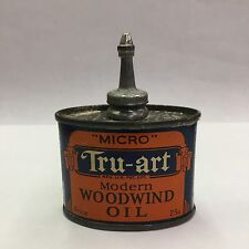 VINTAGE ADVERTISING MICRO TRU-ART MODERN WOODWIND OIL LEAD TOP OILER, 387-Y