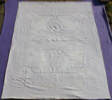 WHITE STAR LINE RMS OLYMPIC TITANIC ERA 1ST CL STATEROOM DAMASK BED COVER C-1929