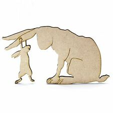 Guess How Much I Love You Wooden/MDF Shape. Nutbrown Hare. Embellishment