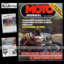 MOTO JOURNAL N°308 RC 500 M HONDA CB 125 S3 CHALLENGE TRIAL ROB SHEPHERD 1977