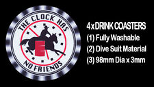 4  x HORSE BARREL RACING, DRINK COASTERS - FULLY WASHABLE, DIVE SUIT MATERIAL
