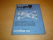 LAND ROVER SERIES IIA 2A 2 a II Owners Service Repair Manual Handbook Guide Book