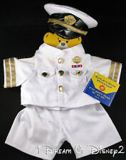 BUILD-A-BEAR US NAVY OFFICER WHITE DRESS MILITARY TEDDY UNIFORM OUTFIT & HAT NEW