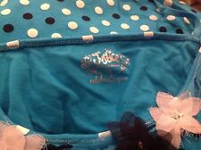 justice girl clothes camisole turquoise with black and white polka dots
