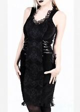 Lip Service Blacklist Victorian Steampunk Goth Black Lace Velvet Dress