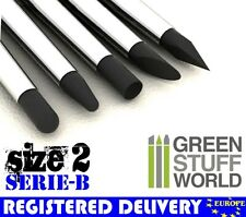 Silicone Brush #2 - BLACK FIRM - 5pcs - SERIE-B - Color Shaper Clay Green Stuff