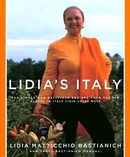 Lidia's Italy: 140 Simple and Delicious Recipes from the Ten Places in-ExLibrary