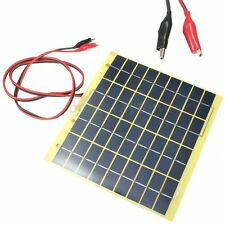5W Epoxy Solar Panel 12V Fit Car Charger Garden Battery Diode Clips&1M Cable HK