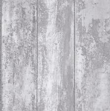Grandeco Luxury Wood Panel Effect Vinyl Coated Textured  Wallpaper VOA-006-02-5