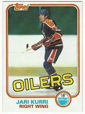 1981-82 TOPPS HOCKEY #18 JARI KURRI ROOKIE - NEAR MINT-