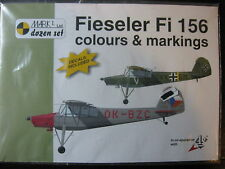 1/72 DECALS FIESELER FI 156 COLORS & MARKINGS  DECALCOMANIE