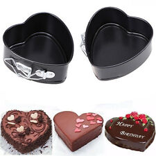 Non-Stick Love Heart Shape Cake Pan Tin Mold Baking Cheese Bread Jelly Tray DIY