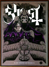 GHOST El Rey Signed By All 6 Members Ltd Ed RARE Litho Poster! Meliora Popestar