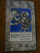 1929 THE VIDEO HISTORY OF OUR TIMES VHS STOCK MARKET CRASH FASHION PRES HOOVER
