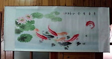 Chinese scroll painting -   Lotus leaves nine fish Figure 太极运转图