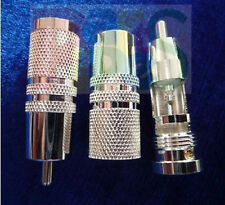 3-pair Pure Copper OFC Silver-Plated RCA Connector Plug