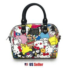 Loungefly x Hello Sanrio Character Print Duffle Bag Bowler Bag Cross Body Bag