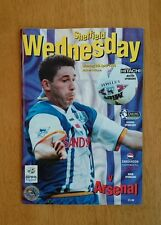 1995/96 SHEFFIELD WEDNESDAY v ARSENAL - EXCELLENT CONDITION