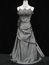 Cherlone Grey Ballgown Wedding Evening Bridesmaid Formal Full Length Dress 14-16
