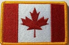 CANADIAN FLAG EMBROIDERED IRON-ON PATCH CANADA EMBLEM MAPLE LEAF  RED