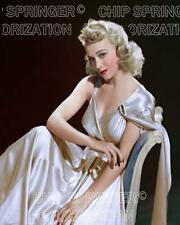 CAROLE LANDIS WEARING WHITE GOWN (#3) BEAUTIFUL COLOR PHOTO BY CHIP SPRINGER