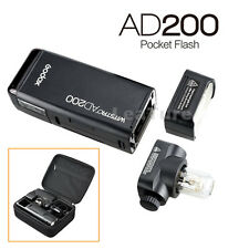 Godox New 2.4 TTL 1/8000s Double Head AD200 Pocket Flash With 2900mAh Battery