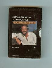 JOHN DURRILL - JUST FOR THE RECORD - CASSETTE - NEW