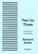 Two for Three for cello & bass (Bernard Salles) RM769