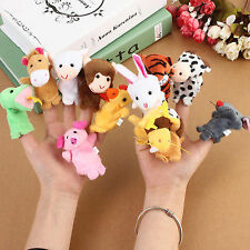 Kuhu Creations Animal Finger Puppets set of 12 pcs with Tiger & Monkey
