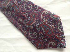 Mens Blue Red Gray Tie Necktie HICKOK ~ FREE US SHIP (7673)