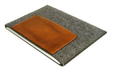 iPad MINI 1, 2 or 3 felt & leather pocket sleeve case, UK MADE, PERFECT FIT!