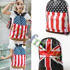 Hot Canvas UK&USA  Flag Punk BackPack Shoulder Bag Handbag Duffle School