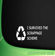 SCRAPPAGE SCHEME FUNNY JDM DRIFT EURO WINDOW VINYL DECAL CAR STICKER