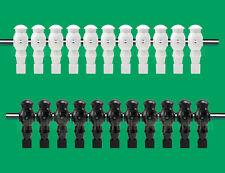 """11 White/11 Black Robotic Foosball Men - 5/8"""" Rod - 22 Robotic Table Soccer Men"""
