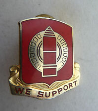 "WWII ""We Support"" the Line red enamel pin, N.S. Meyer"