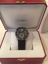 Auth Cartier Calibre de Cartier Diver W7100056 SS Auto Men's Watch(S A7124)