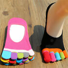 Women Cotton Nonslip Invisible Solid Low Ankle Toe Socks No Show Socks Wholesale