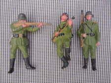 Lot de 3 Soldats Allemands en plomb figurine soldat hauteur 10,5 cm