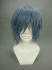 Togainu no Chi True Blood Kamina Akira Cosplay Wig Mixed blue smoke