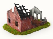RESIN – Bausatz 1:87 Ruine, Abrisshaus, WW2 Haus (55)