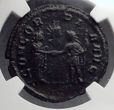 AURELIAN 274AD Rare As of Rome Concordia Authentic Ancient Roman Coin NGC i60222