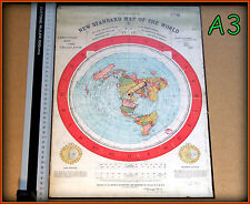 A3 GLEASONS NEW STANDARD MAP - FLAT EARTH, Scientifically & Practically Correct
