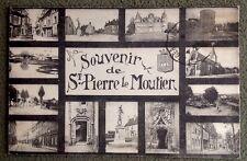 CPSM. SAINT PIERRE le MOUTIER. 58 - SOUVENIR. Vues Multiples. 1928.