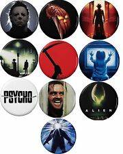 Classic Horror Movies Button Set (10) 1 1/4''