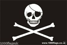 Pirate Skull & Crossbones Jolly Roger Flag Vinyl Car Window Sticker