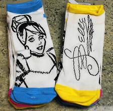 New Disney World CINDERELLA - BELLE - SLEEPING BEAUTY Socks - Ladies 6 Pairs