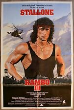 RAMBO 3 Affiche Cinéma Américaine / American Movie Poster ONE SHEET