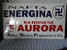 Vintage Energina Anglo Mexican Petroleum C° Porcelain Bombee Sign 37 x 22 inches