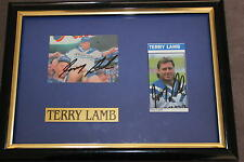 TERRY LAMB~*~SGND & FRMD~*~RARE WITH 2 SIGNATURES ~*~ BULLDOGS LEGEND + COA